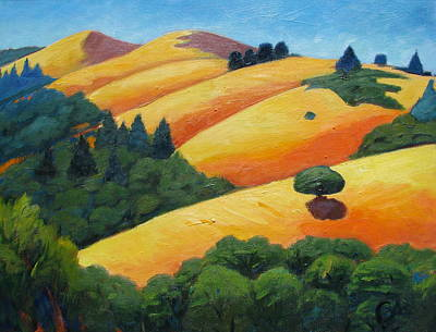 Windy Hill Painting - Lone Tree Among Trees by Gary Coleman