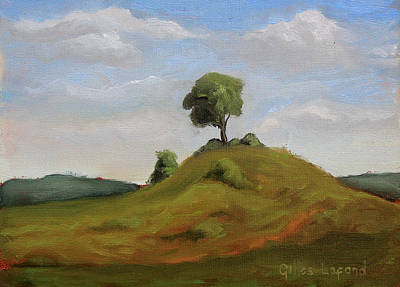 Painting - Lone Tree by Gilles Lafond