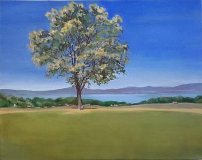 Lone Tree Hill Art Print by Irene Corey