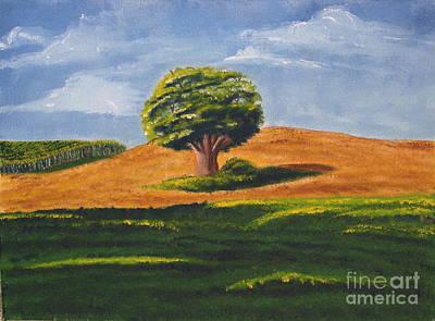 Lone Tree Art Print by Mendy Pedersen