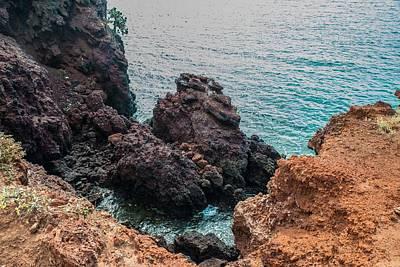 Photograph - Lone Tree On Rabida Lava Shore by Harry Strharsky