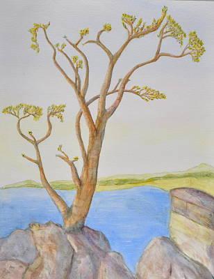 Lone Tree On The Ocean Art Print by Jonathan Galente