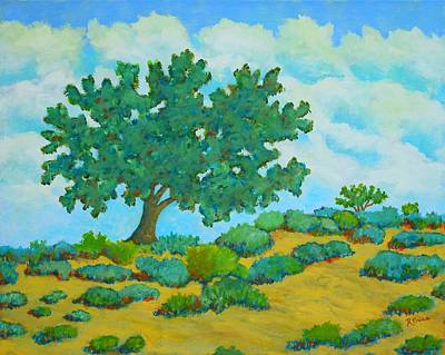 Country Road Painting - Lone Tree by Robert Price