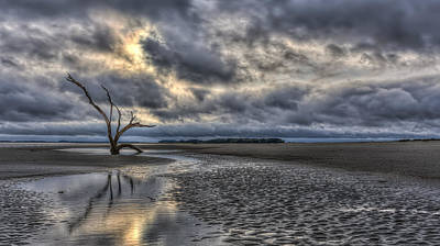 Photograph - Lone Tree Under Moody Skies by Harry B Brown