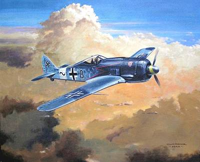 Painting - 'lone Warrior Fw190' by Colin Parker