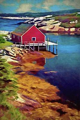 Digital Art - Lone Wharf by Jeffrey Kolker