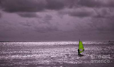 Photograph - Lone Windsurfer by Yali Shi