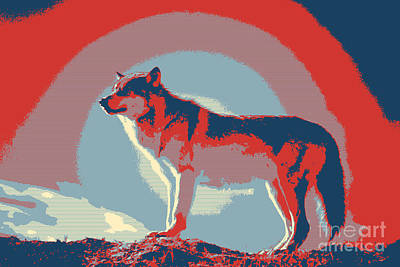 Lone Wolf Art Art Print by Celestial Images