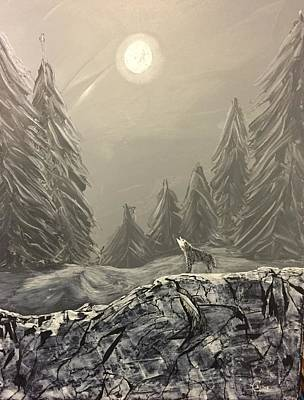 Painting - Lone Wolf by Chris Bishop