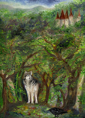 Painting - Lone Wolf by FT McKinstry