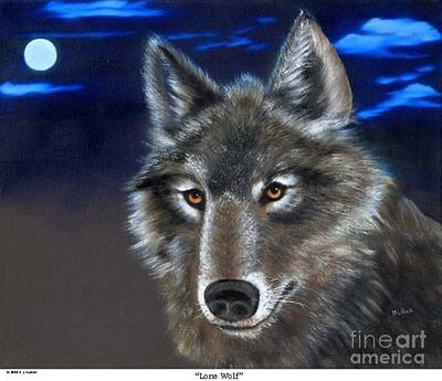 Painting - Lone Wolf by RJ McNall
