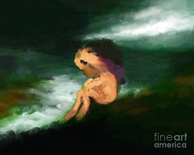 Alienation Digital Art - Loneliness _ Abstract by Bouquet  Of arts