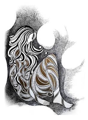 Loneliness Art Print by Alpana Lele