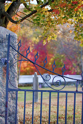 Photograph - Lonely Autumn Gateway  by Jeff Folger