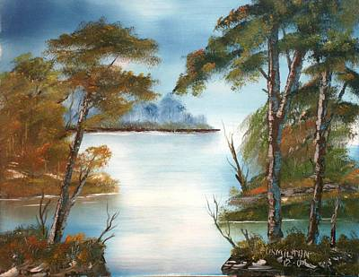 Lonely Bay Art Print by Larry Hamilton