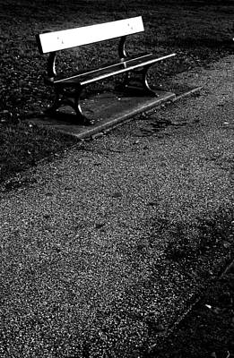 Lonely Bench Art Print by Jez C Self