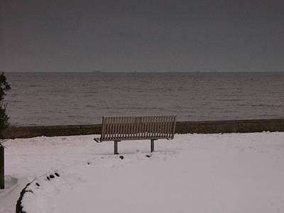 Photograph - Lonely Bench by Nik Watt