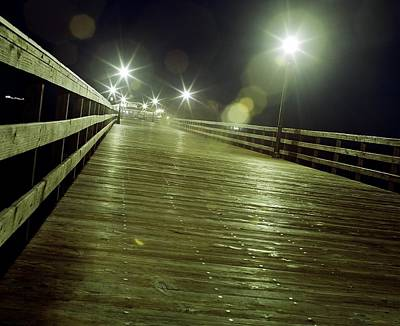 Bruce Wayne Photograph - Lonely Boardwalk by Bruce Wayne