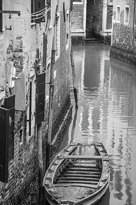 Photograph - Lonely Boat Venice Italy  by John McGraw