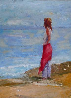 Painting - Sold Lonely By The Sea by Irena Jablonski