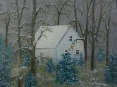 Lonely Cabin In The Woods Original by Jonathan Morgan