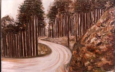 Painting - Lonely Curve by Anand Swaroop Manchiraju