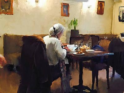 Digital Art - Lonely Dinner by Yury Malkov