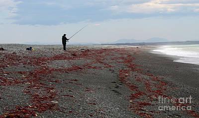 Photograph - Lonely Fisherman by Nareeta Martin