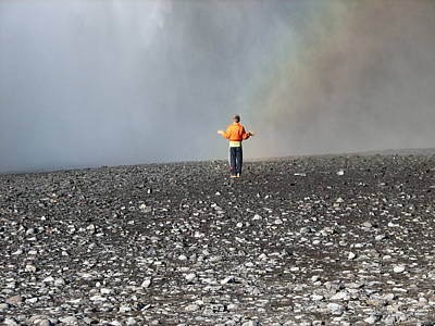 Lonely Front Of Rainbow In Northern Desert Original by Andres Zoran Ivanovic