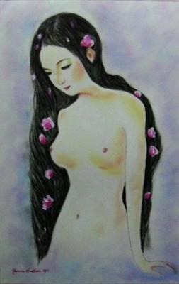Painting - Lonely Girl by Wanvisa Klawklean