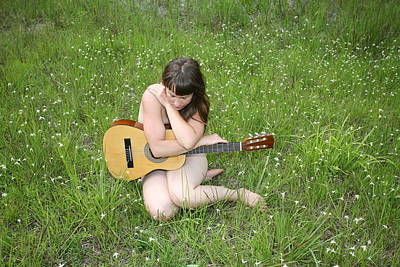 Art Print featuring the photograph Lonely Guitar by Lucky Cole