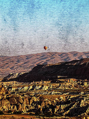 Mixed Media - A Lonely Balloon by Helissa Grundemann