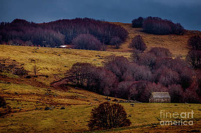 Cloudy Photograph - Lonely House,aubrac,lozere,france. by Robert Brown