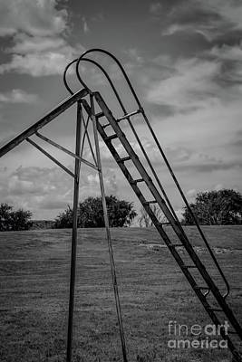 Photograph - Lonely Ladder by Jon Burch Photography