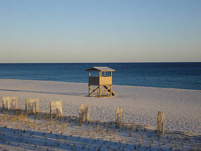 Lonely Lifeguard Art Print by Navarre Photos