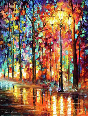 Painting - Lonely Light by Leonid Afremov