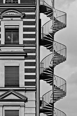 Stairway Photograph - Lonely Man by Christian Muller