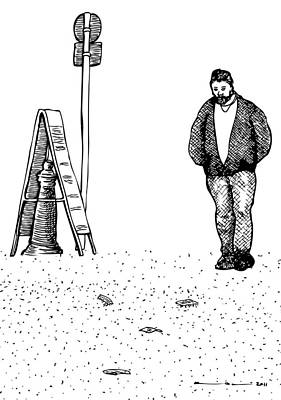 Lonely Man Art Print by Karl Addison