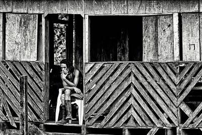 Photograph - Lonely Man, Nicaragua by Jose Luis Vilchez