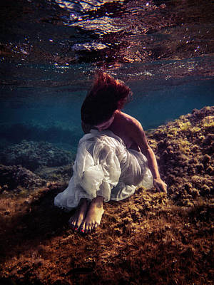 Photograph - Lonely Mermaid by Gemma Silvestre