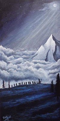 Bilbo Painting - Lonely Mountain by Dan Wagner