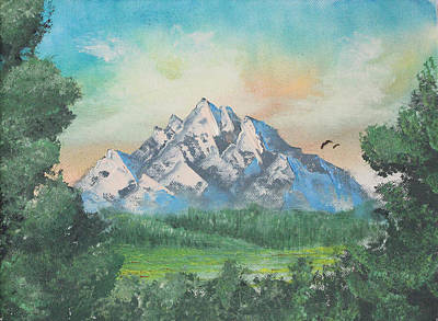 Altitude Painting - Lonely Mountain by Justin  Dobbs