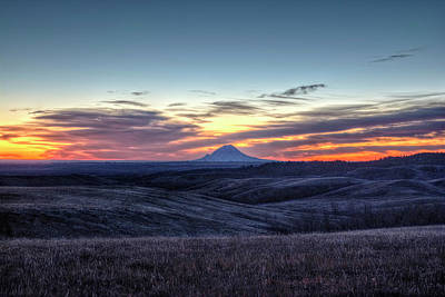 Photograph - Lonely Mountain Sunrise by Fiskr Larsen
