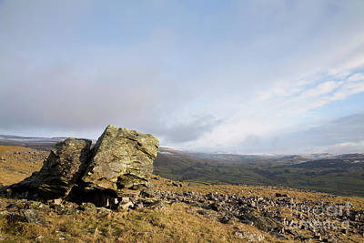 Photograph - Lonely Norber Erratic by Gavin Dronfield