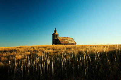 Christian Sacred Photograph - Lonely Old Church by Todd Klassy