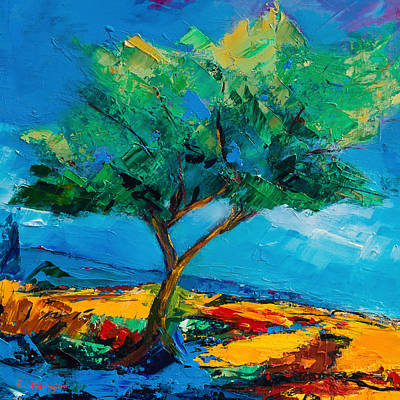 Painting - Lonely Olive Tree by Elise Palmigiani