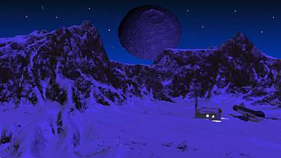 Digital Art - Lonely Outpost by Bob Shimer