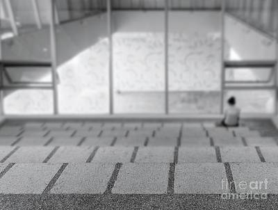 Photograph - Lonely Person In A Modern Building by Yali Shi