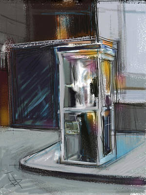 Lonely Phone Booth Art Print by Russell Pierce