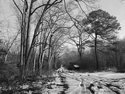 Photograph - Lonely Road In Winter by Robert Banach